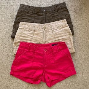 GAP Canvas Shorts (Set of 3) size 0